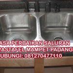 Jasa Perbaikan Saluran Wastafel Mampet Padang